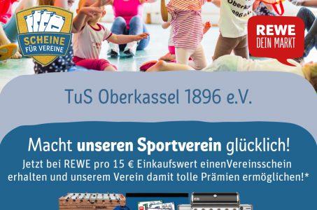 Scheine für Vereine: Prämien für den TuS Oberkassel 1896 e.V. sichern